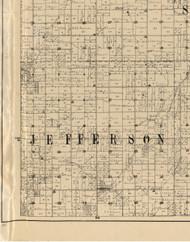 Jefferson, Iowa 1900 Old Town Map Custom Print - Buchanan Co.