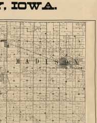 Madison, Iowa 1900 Old Town Map Custom Print - Buchanan Co.