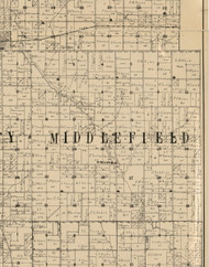 Middlefield, Iowa 1900 Old Town Map Custom Print - Buchanan Co.