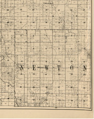 Newton, Iowa 1900 Old Town Map Custom Print - Buchanan Co.