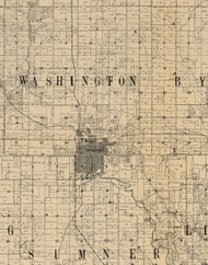 Washington, Iowa 1900 Old Town Map Custom Print - Buchanan Co.