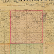 Barnes, Iowa 1884 Old Town Map Custom Print - Buena Vista Co.