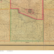 Hayes, Iowa 1884 Old Town Map Custom Print - Buena Vista Co.