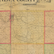 Lee, Iowa 1884 Old Town Map Custom Print - Buena Vista Co.