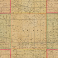 Lincoln, Iowa 1884 Old Town Map Custom Print - Buena Vista Co.