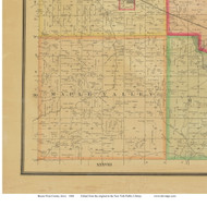 Maple Valley, Iowa 1884 Old Town Map Custom Print - Buena Vista Co.