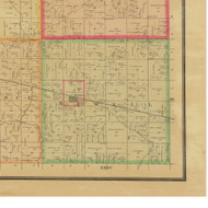 Newell, Iowa 1884 Old Town Map Custom Print - Buena Vista Co.
