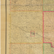 Nokomis, Iowa 1884 Old Town Map Custom Print - Buena Vista Co.