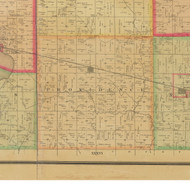 Providence, Iowa 1884 Old Town Map Custom Print - Buena Vista Co.