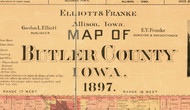 Title of Source Map - Butler Co., Iowa 1897 - NOT FOR SALE - Butler Co.