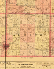 Albion, Iowa 1897 Old Town Map Custom Print - Butler Co.