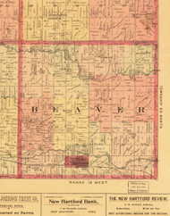 Beaver, Iowa 1897 Old Town Map Custom Print - Butler Co.