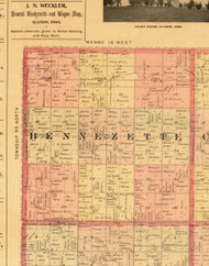 Bennzette, Iowa 1897 Old Town Map Custom Print - Butler Co.