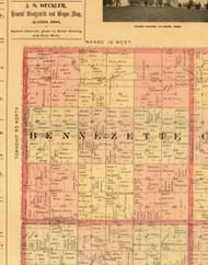 Bennzette, Iowa 1897 Old Town Map Custom Print - Butler Co.