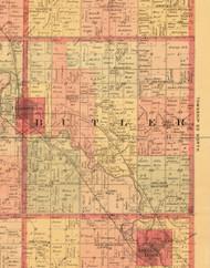 Butler, Iowa 1897 Old Town Map Custom Print - Butler Co.