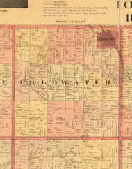 Cold Water, Iowa 1897 Old Town Map Custom Print - Butler Co.