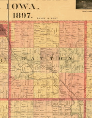 Dayton, Iowa 1897 Old Town Map Custom Print - Butler Co.