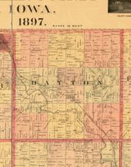 Dayton, Iowa 1897 Old Town Map Custom Print - Butler Co.