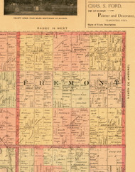 Fremont, Iowa 1897 Old Town Map Custom Print - Butler Co.