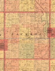 Jackson, Iowa 1897 Old Town Map Custom Print - Butler Co.
