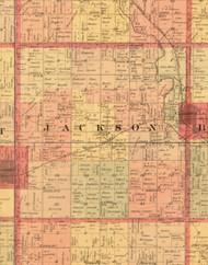 Jackson, Iowa 1897 Old Town Map Custom Print - Butler Co.