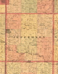 Jefferson, Iowa 1897 Old Town Map Custom Print - Butler Co.