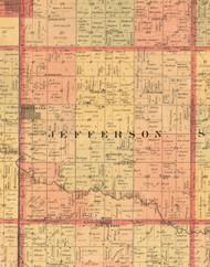 Jefferson, Iowa 1897 Old Town Map Custom Print - Butler Co.