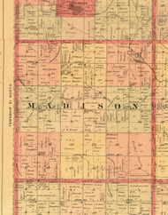 Madison, Iowa 1897 Old Town Map Custom Print - Butler Co.