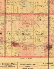 Monroe, Iowa 1897 Old Town Map Custom Print - Butler Co.