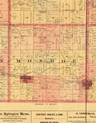 Monroe, Iowa 1897 Old Town Map Custom Print - Butler Co.