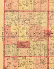 Pittsford, Iowa 1897 Old Town Map Custom Print - Butler Co.