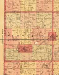 Pittsford, Iowa 1897 Old Town Map Custom Print - Butler Co.