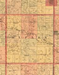 Ripley, Iowa 1897 Old Town Map Custom Print - Butler Co.