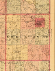 Shell Rock, Iowa 1897 Old Town Map Custom Print - Butler Co.