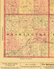 Washington, Iowa 1897 Old Town Map Custom Print - Butler Co.