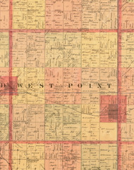 West Point, Iowa 1897 Old Town Map Custom Print - Butler Co.