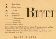 Butler Co. Map Key, Iowa 1897 Old Town Map Custom Print - Butler Co.