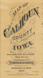 Title of Source Map - Calhoun Co., Iowa 1884 - NOT FOR SALE - Calhoun Co.