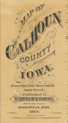 Title of Source Map - Calhoun Co., Iowa 1884 - NOT FOR SALE - Calhoun Co.