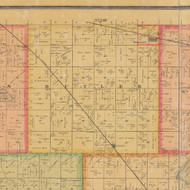 Butler, Iowa 1884 Old Town Map Custom Print - Calhoun Co.