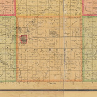 Calhoun, Iowa 1884 Old Town Map Custom Print - Calhoun Co.