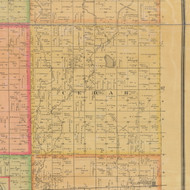 Cedar, Iowa 1884 Old Town Map Custom Print - Calhoun Co.