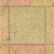 Center, Iowa 1884 Old Town Map Custom Print - Calhoun Co.