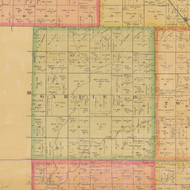 Garfield, Iowa 1884 Old Town Map Custom Print - Calhoun Co.