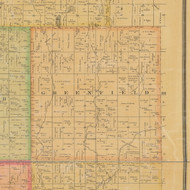 Greenfield, Iowa 1884 Old Town Map Custom Print - Calhoun Co.