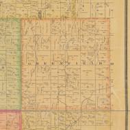 Greenfield, Iowa 1884 Old Town Map Custom Print - Calhoun Co.