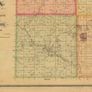 Jackson, Iowa 1884 Old Town Map Custom Print - Calhoun Co.