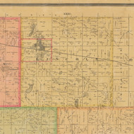 Lincoln, Iowa 1884 Old Town Map Custom Print - Calhoun Co.