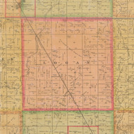 Logan, Iowa 1884 Old Town Map Custom Print - Calhoun Co.