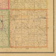 Reading, Iowa 1884 Old Town Map Custom Print - Calhoun Co.